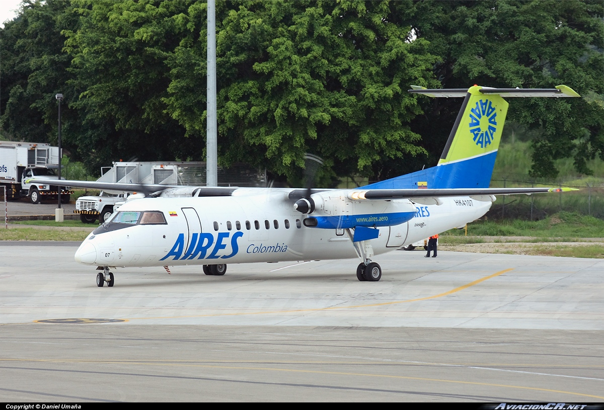 HK-4107 - De Havilland Canada DHC-8-300 Dash 8 - Aires Colombia