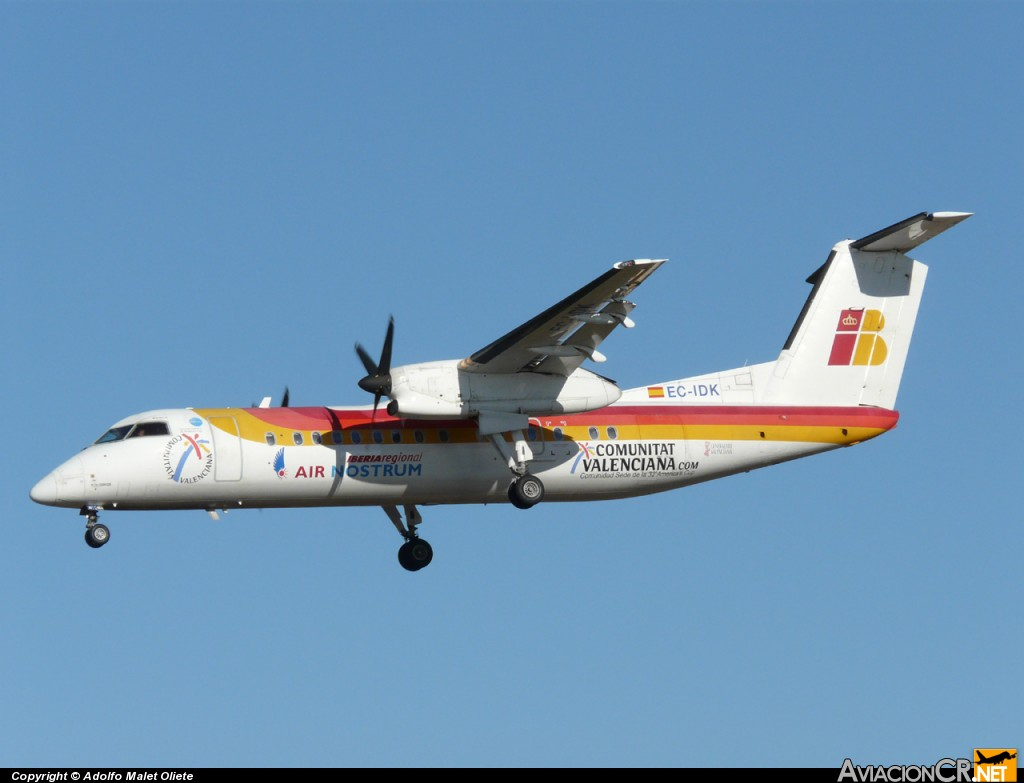 EC-IDK - de Havilland DHC-8 (Dash 8) - Iberia Regional (Air Nostrum)