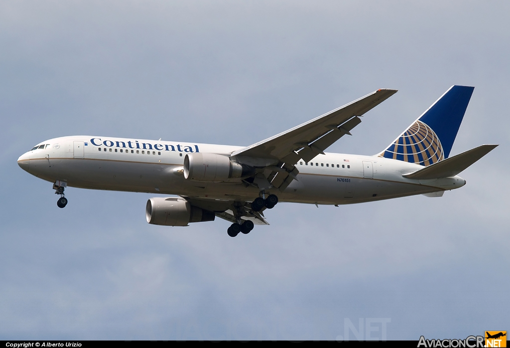 N76151 - Boeing 767-224/ER - Continental Airlines