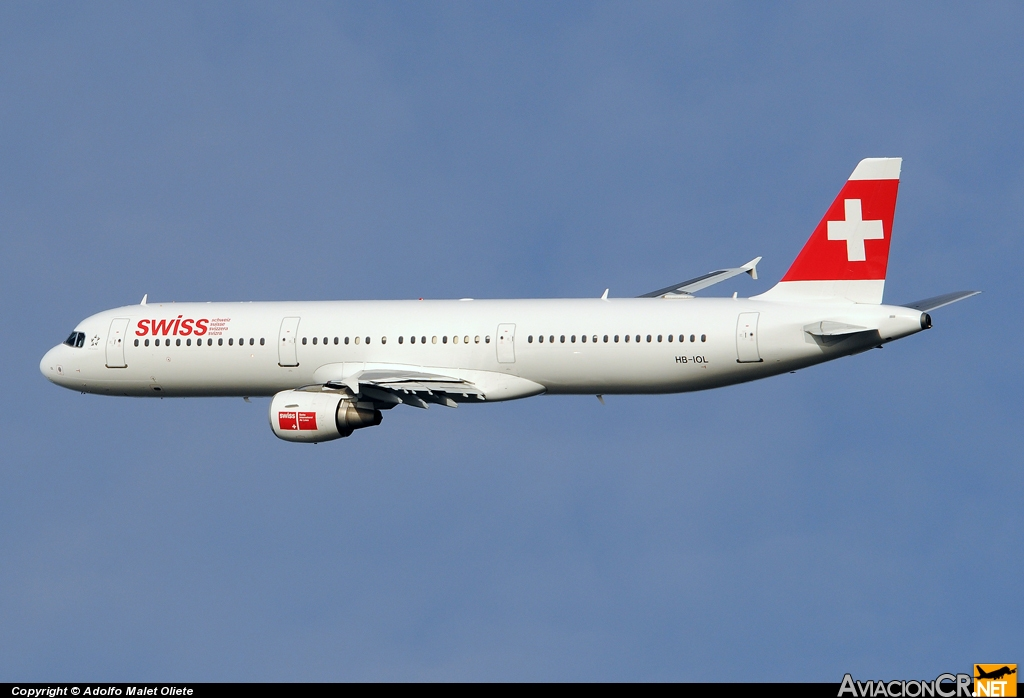 HB-IOL - Airbus A321-111 - Swiss International Air Lines