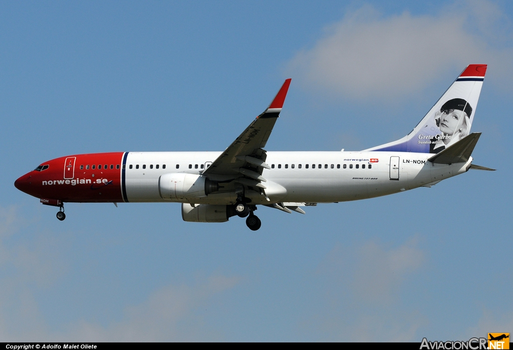 LN-NOM - Boeing 737-86N - Norwegian Air Shuttle