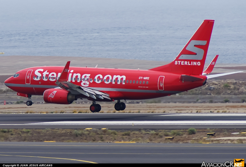 OY-MRE - Boeing 737-7L9 - Sterling Airlines