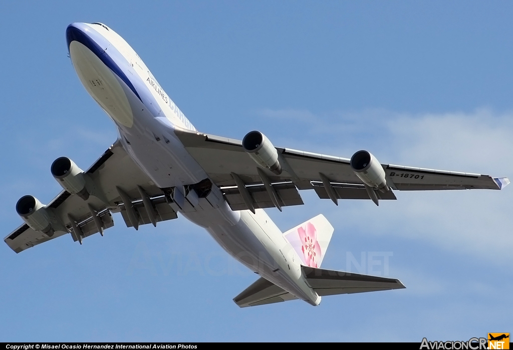 B-18701 - Boeing 747-409F/SCD - China Airlines Cargo