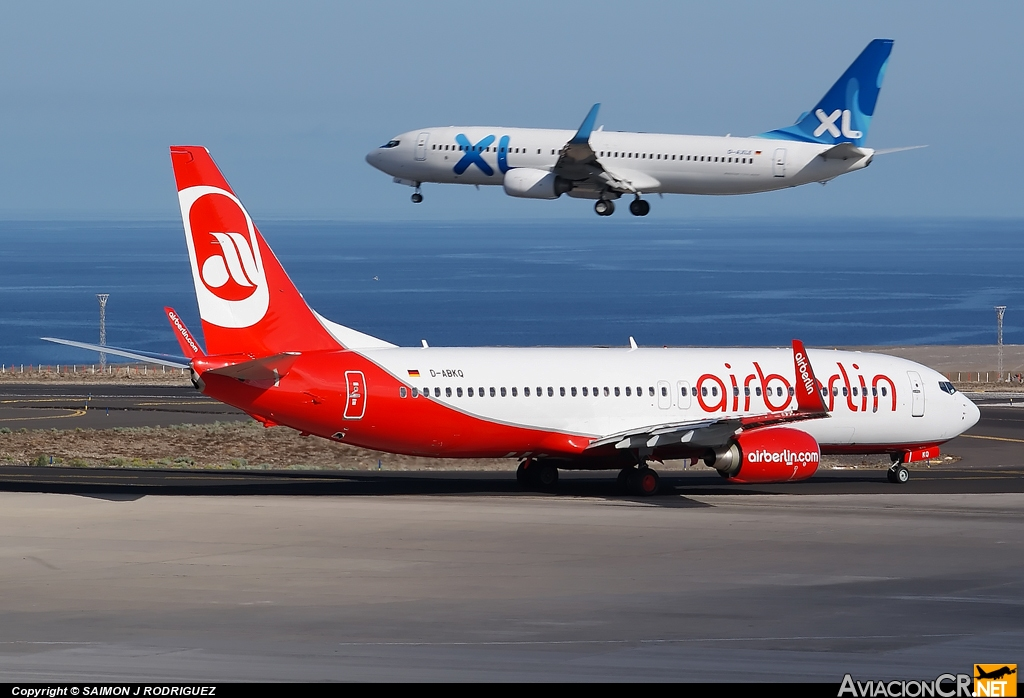 D-ABKQ - Boeing 737-8KJ - Air Berlin