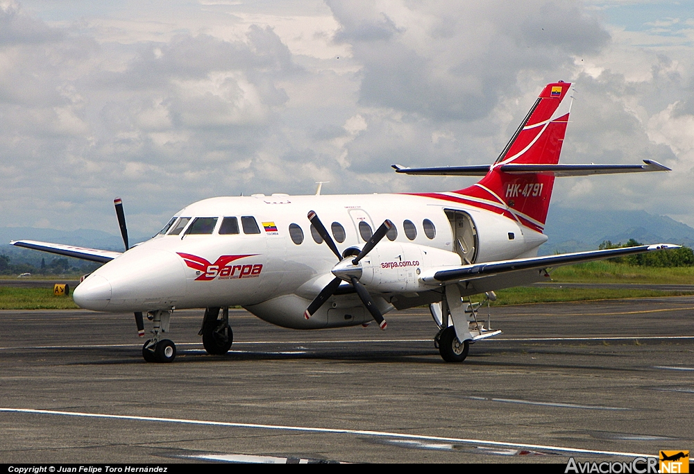 HK-4791 - British Aerospace Jetstream 31 (Genérico) - SARPA Colombia