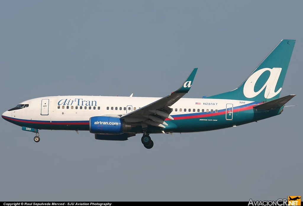 N281AT - Boeing 737-7BD - Air Tran
