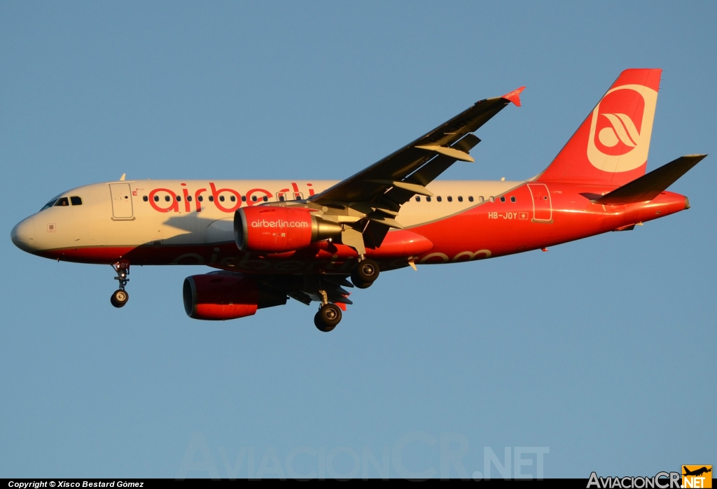 HB-JOY - Airbus A319-112 - Air Berlin