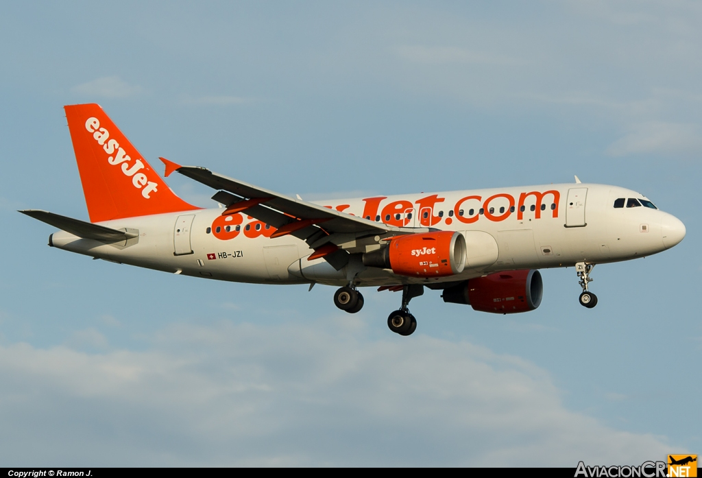 HB-JZI - Airbus A319-111 - EasyJet Airlines