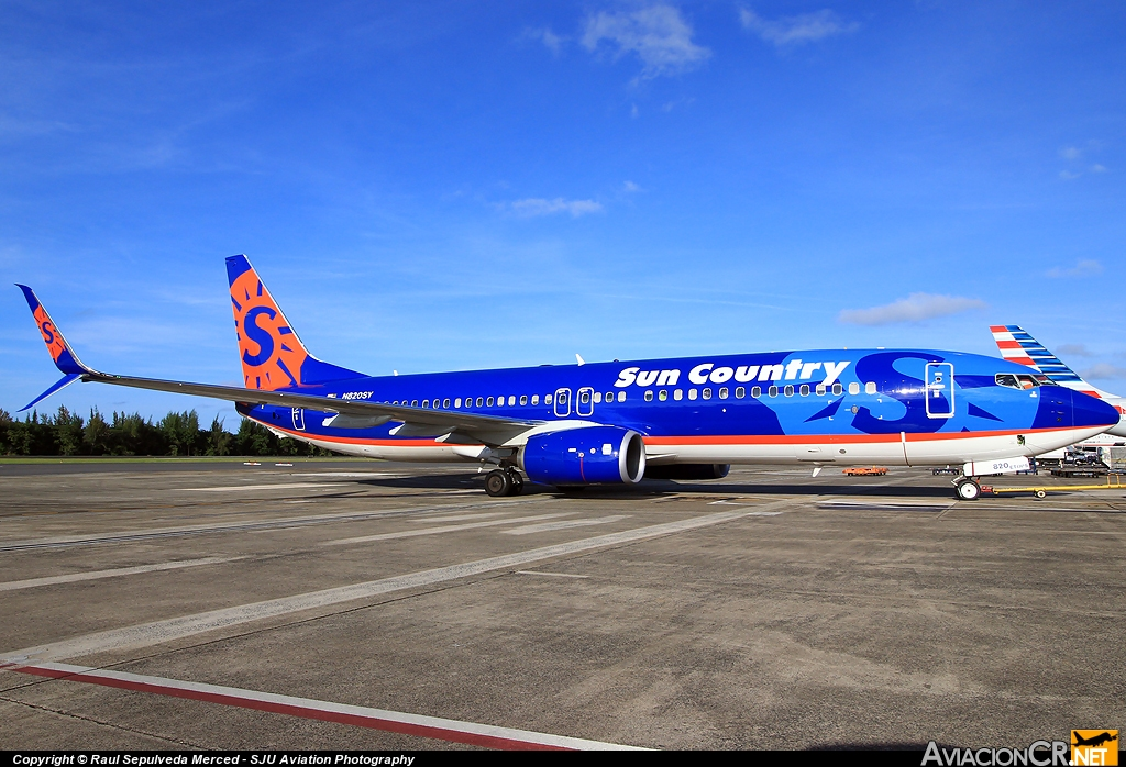 N820SY - Boeing 737-8FH - Sun Country Airlines