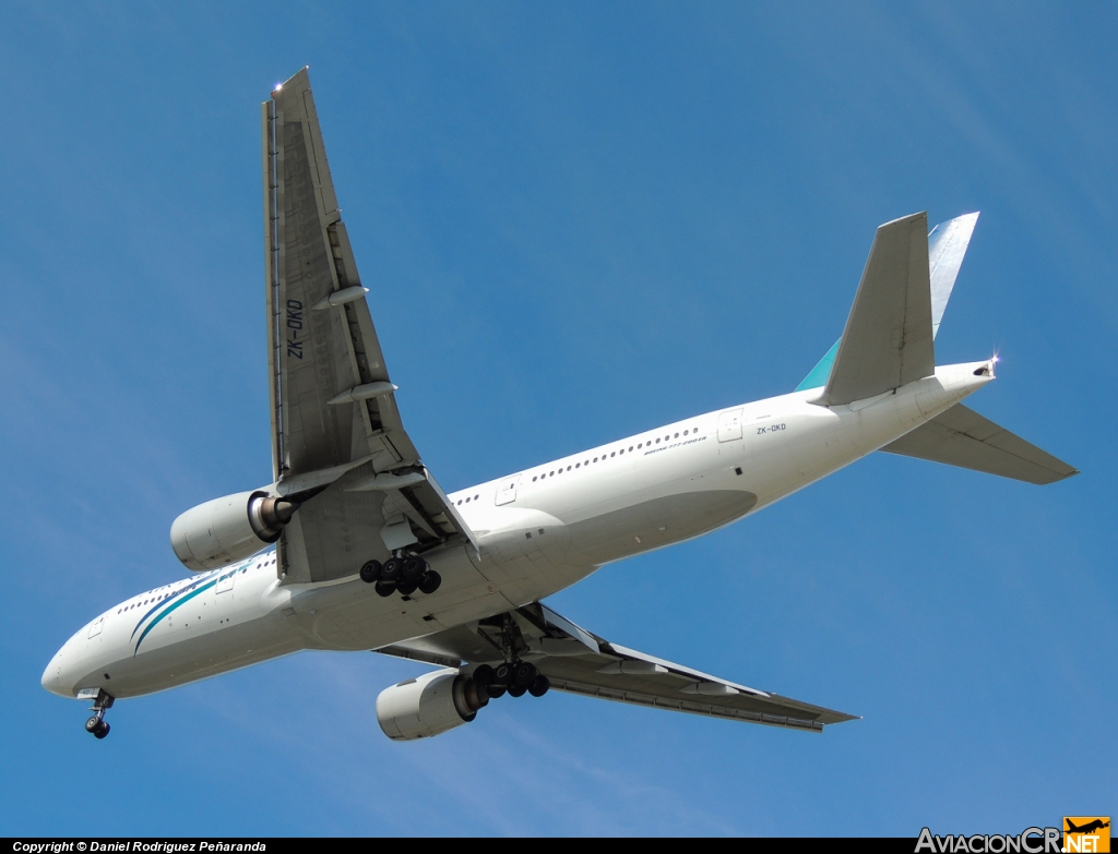 ZK-OKD - 777-219(ER) - Air New Zealand